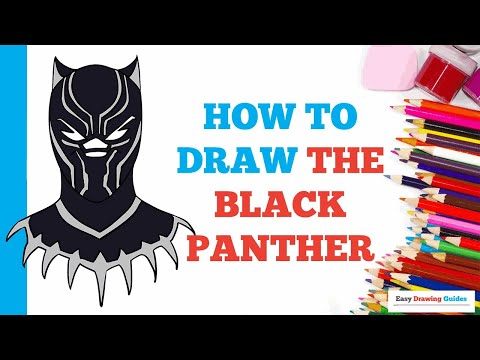 how-to-draw-the-black-panther-in-a-few-easy-steps:-drawing-tutorial-for-kids-and-beginners
