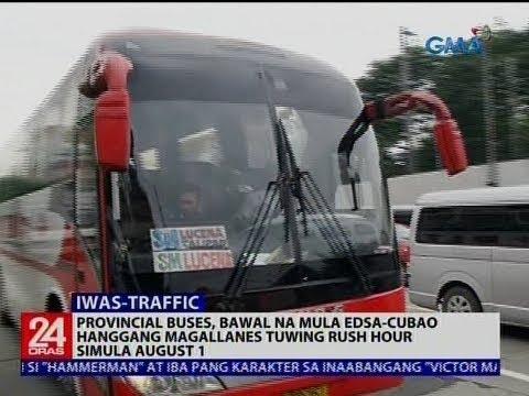 Provincial buses, bawal na mula Edsa-Cubao hanggang Magallanes tuwing rush hour simula August 1