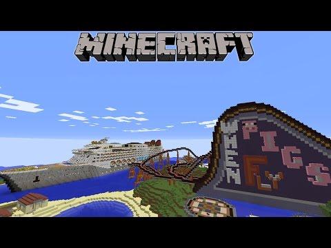 ROLLER COASTER BUATAN BABI di Minecraft