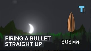 Firing a bullet straight up
