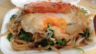 Cambodian Fried Noodle With Egg And Pate And Vegetable