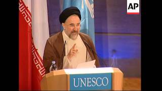 Iranian President Mohammad Khatami on unofficial visit