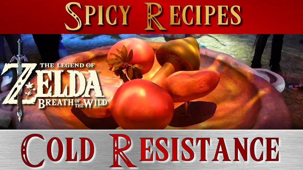Cake Recipe In Zelda Breath Of The Wild: Zelda Breath Of The Wild ** Cold Resistance Recipes Guide