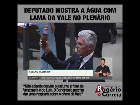 VÍDEO: DEPUTADO MOSTRA A ÁGUA COM LAMA DA VALE NO PLENÁRIO