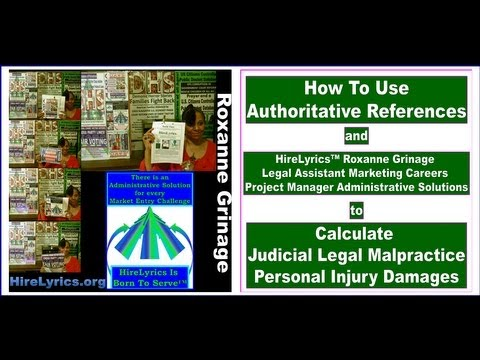 How To Calculate Judicial Legal Malpractice Personal Injury Damages by Roxanne Grinage