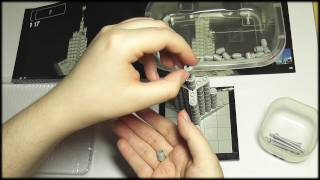 71. Building Lego Architecture: Burj Khalifa (without whisper) - SOUNDsculptures (ASMR)