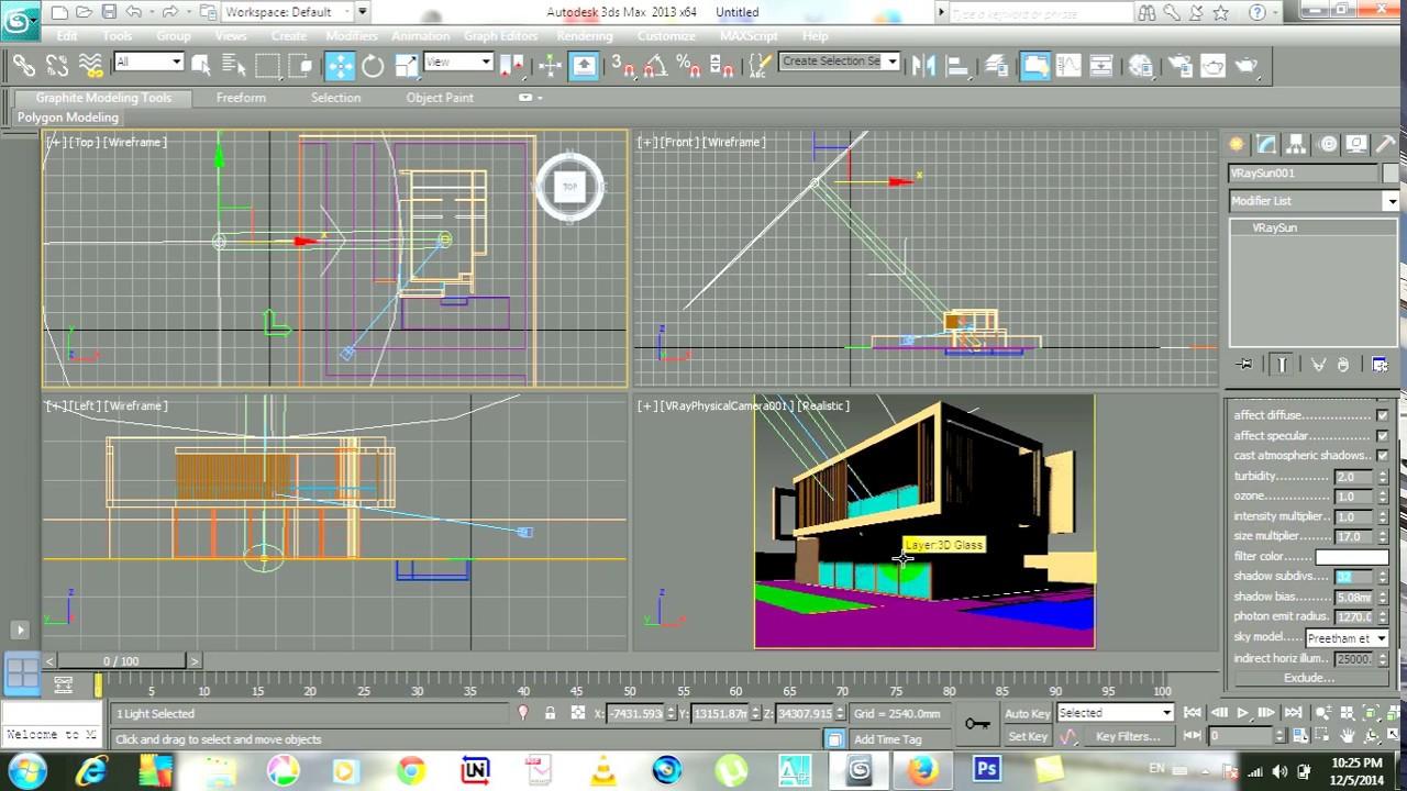 V Ray Lighting Tutorial Vray Sun In 3ds Max Vray Exterior Rendering 1 Youtube