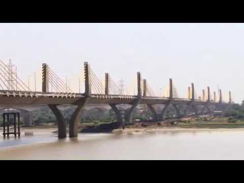 India's largest four-Lane extradosed bridge over the river Narmada at Gujarat on NH-8