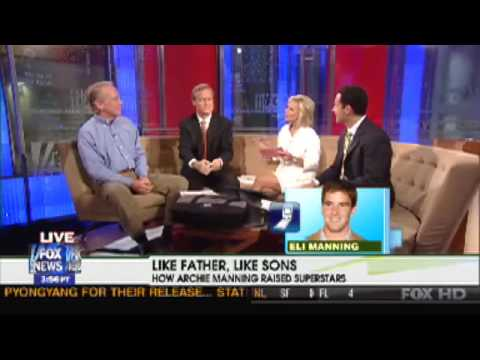 Eli Manning Surprises His Father Archie on Fox & Friends