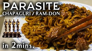 How to Cook Movie 'Parasite' Chapaguri / Ram-Don / Steak Ramen (EASY in 2mins.)