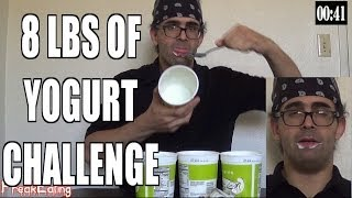 8 lbs Yogurt Eating Challenge w/ Yo You Hungry! | FreakEating Vs The World 50