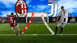 MILAN vs JUVENTUS FOOTBALL CHALLENGES!!! - MILANISTA vs JUVENTINO w/Ohm & T4tino23