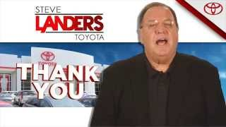 Thank You | Steve Landers Toyota in Little Rock, Arkansas