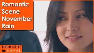 Love Scene | Nepali Movie NOVEMBER RAIN | Aryan Sigdel, Namrata Shrestha