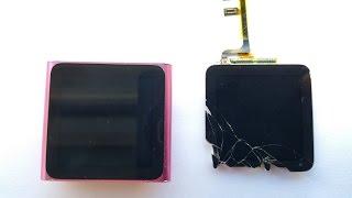 Замена экрана ipod nano 6. Screen Replacement Ipod nano 6 and solving a power button problem. MC692