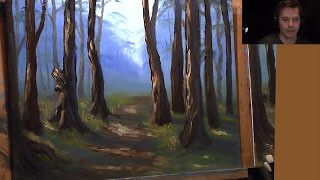 Wooded Landscape - Full Beginners Painting