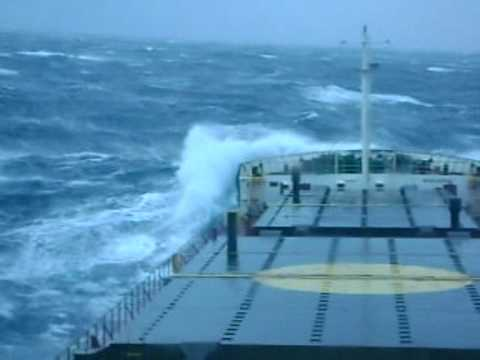 Mighty Ships Cargo Ship In Storm Force 10 11 Wmv Youtube