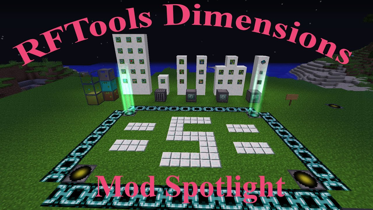 how to get in a dimension rftools