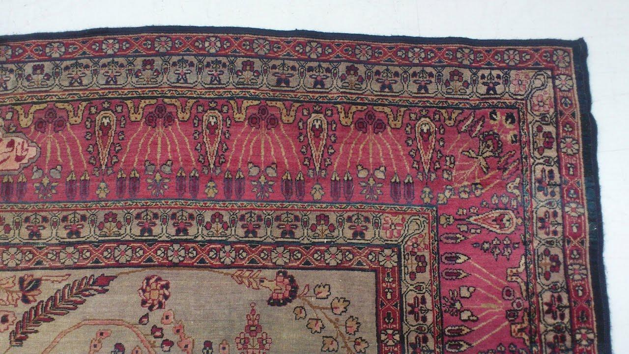 Limpieza de alfombra persa antigua kerman tavshanjian 4 for Restauracion alfombras persas