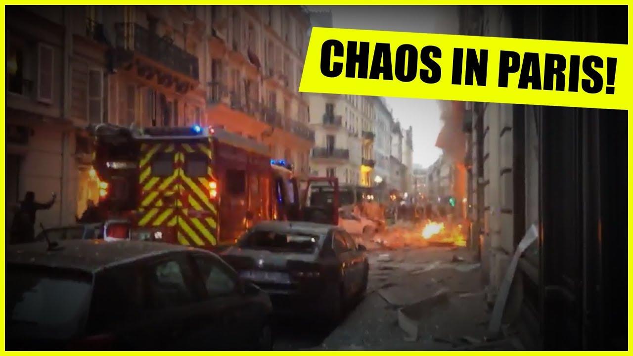 HUGE EXPLOSION IN PARIS! LIVE ON THE SCENE! #1