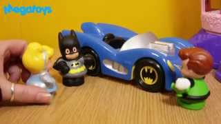 Batman & Cinderella in Batmobile joker green lantern disney princess dc super friends little people