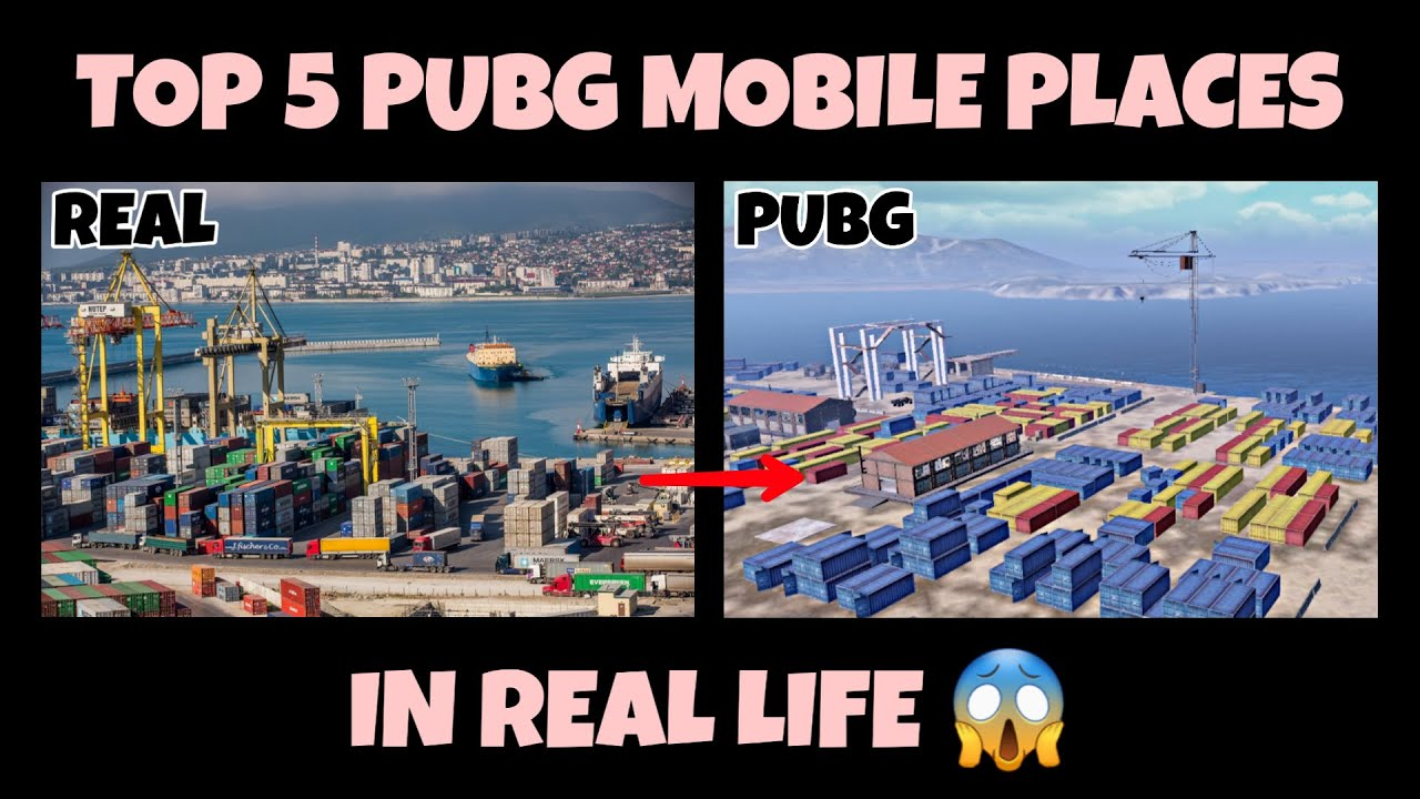 PUBG Mobile - Top 5 Pubg Mobile Places In Real Life (Part 4) 😱 | Pubg Mobile In Real Life
