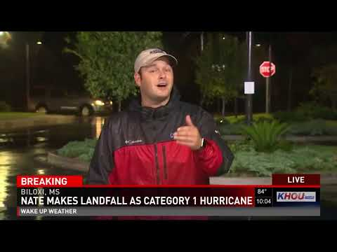 Tracking Hurricane Nate live from Biloxi, MS