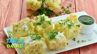 Instant Corn Dhokla by Tarla Dalal