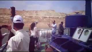 وفد الاذاعة المصرية فى جولة بحرية بمنطقة منصة الافتتاح
