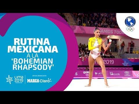 BOHEMIAN RHAPSODY de QUEEN aparece en la rutina de la mexicana Karla Díaz   Lima 2019