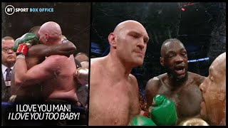 """You won!"" What Wilder, Fury and promoters said to each other after the bell"