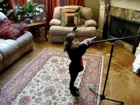 Blayklee Danae's First Singing Video
