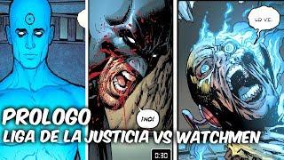 "BATMAN-FLASH-SUPERMAN ANTE EL DR MANHATTAN ""PROLOGO PARA DOOMSDAY CLOCK"" @SoyComicsTj"