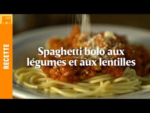Spaghetti bolo aux légumes et aux lentilles