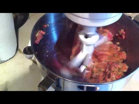 KitchenAid making meatballs