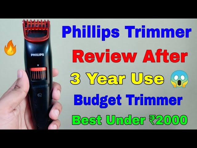 Best Budget Phillips Trimmer Under ₹2000 Review After 3 Year Use 😍  Phillips QT4001 Trimmer Review