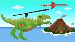 Dinosaur Is Attacking | Tank And Helicopter - Toy Factory For Kids