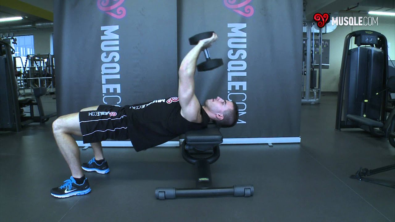 Bent-Arm Dumbbell Pullover - YouTube