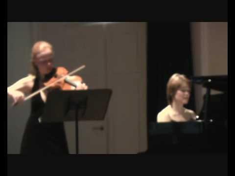 Brahms sonata for violin and piano op.108 (1), d minor Anna Markova, Oksana Svekla LIVE