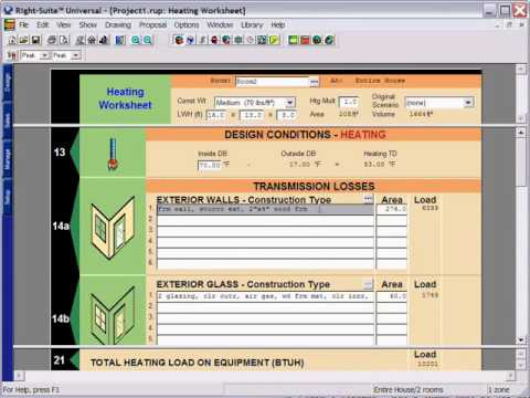 Right-CommLoad™: ASHRAE Commercial Load Calculation