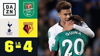 Elfer-Krimi! Spurs zittern sich in Runde 4: Tottenham - Watford 6:4 i. E. | Carabao Cup | DAZN
