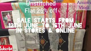 Sapphire Summer Sale Upto 50% off || Unstitched flat 25% Pret flat 50% off || Anum's Vlogz