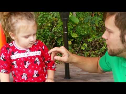 Baby Girl is very proud of her dad's nose trick.. not to laugh