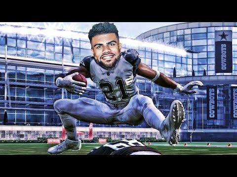 CAN ZEKE ELLIOTT HURDLE THE TALLEST PLAYER IN NFL HISTORY? MADDEN 17 CHALLENGE