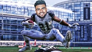 can zeke elliott hurdle the tallest player in nfl history madden 17 challenge