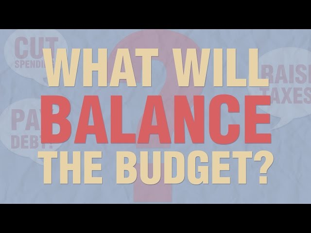 What Will Balance the Budget?