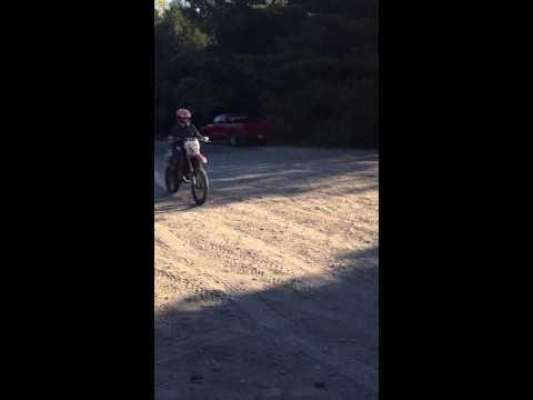 CR125 dirt biking in newtonville ontario