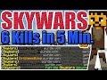 6 KILLS IN 5 MINUTEN! - Minecraft Skywars