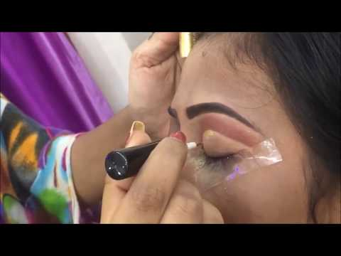 Red golden bridal eye makeup (Hindi) || Neha Beauty Hub