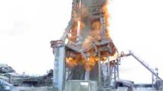 Fire in Oil Tower 11